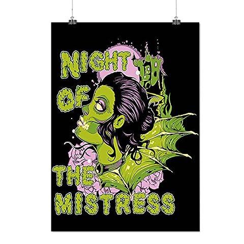 Mistress Zombie Night Horror USA Matte/Glossy Poster A2 (17x24 inches) | Wellcoda (Der Teufel Herrin Kostüm)