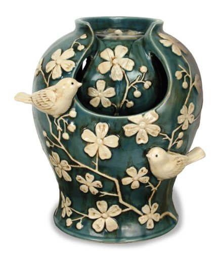 Nature's Garden Tabletop Garden Fountain, Birds and Blossoms (Tabletop Fountain Flower compare prices)