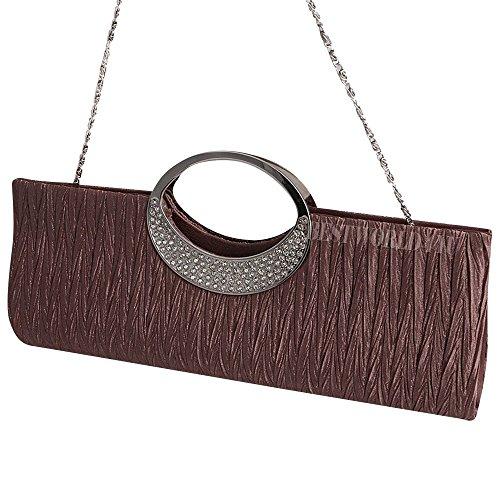 Party Wocharm Women Glittery Purse Handle Bag Diamante Evening Handbag Bag Coffee Bridal Top Deep Wallet Wedding Fashion Clutch Ladies qwv1qSr