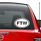 FTW for The Win Japanese JDM Vinyl Decal Sticker Car Truck Vehicle Bumper Window Wall Decor Helmet Motorcycle and More - (Size 5 inch / 13 cm Wide) / (Color Gloss White)