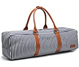 Cheap Elenture Canvas Yoga Mat Tote Bag with Storage Pockets,Fits Most Size Yoga Mats (Stripe B)