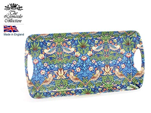 (William Morris Blue Strawberry Thief 39cm Medium Sandwich Tray - Leonardo Collection)