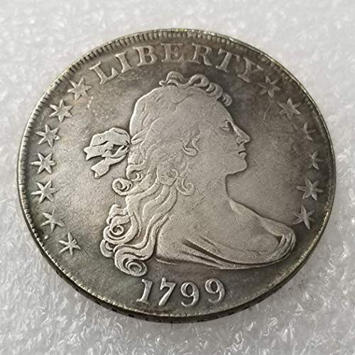 GreatSSCoin 1799 Antique Liberty Half-Body Coin - Great American Commemorative Coin - Old Morgan Dollars Eagle Old Coins -Discover History of US Coins Great Uncirculated Coin