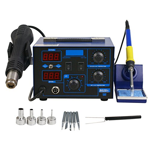 2in1 862d+ SMD Hot Air Rework Station Soldering Iron Station LED Display W/4 Nozzle 110V New Version by Nova Microdermabrasion