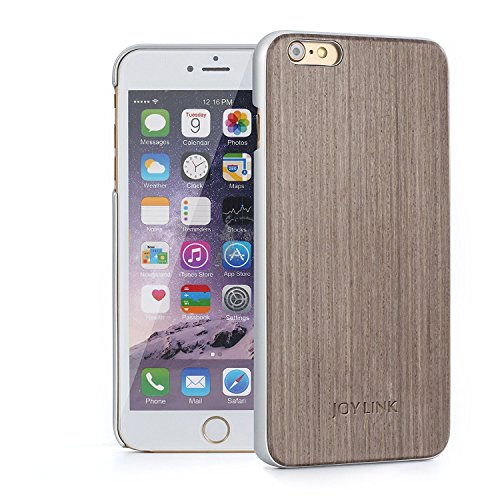 Joylink iPhone 6 Wood Case, Hard Natural Wooden Back with Scratch Resistant Aluminum Coating Frame Protective Cover for iPhone 6/6s (4.7