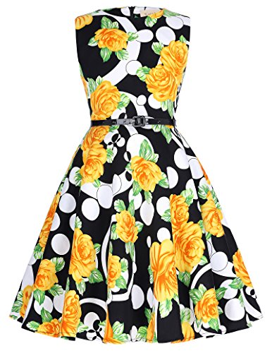Kids Floral Vintage Dresses for Mother&Child Tea Party 10-11Yrs K250-6