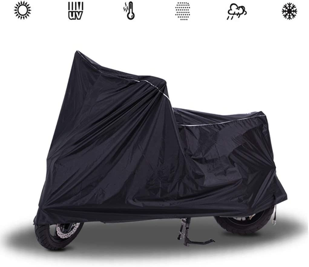 Fundas para motos Compatible con la moto cubrir Harley-Davidson Road King, protector solar a prueba de viento impermeable a prueba de polvo, cubierta de moto universal negro ( Size : M(210*95*115CM) )