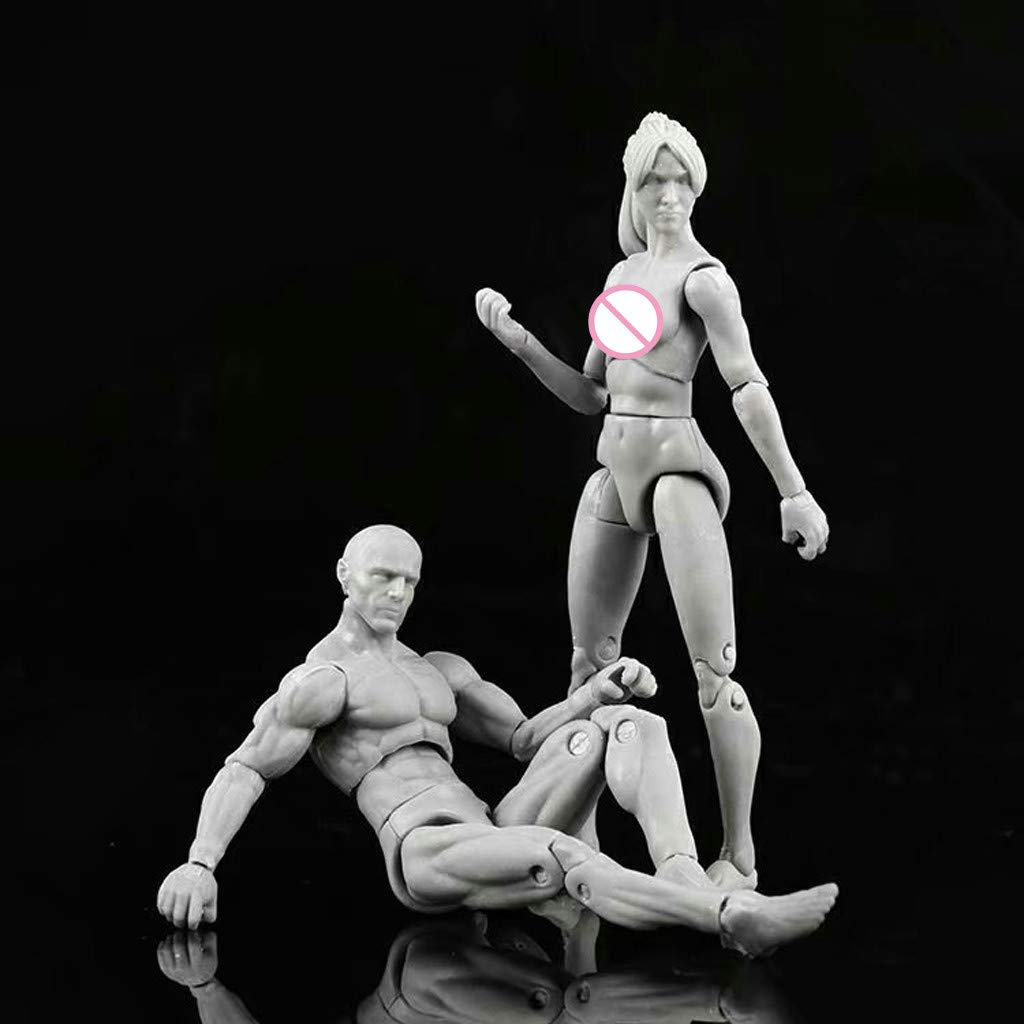 H.eternal Action Figure Model Art Mannequin Human Male Female Body Drawing Model Sketch Articulated Artist Manikin Action Figure for Painting Cartoon Figures Artist Home Office Desk Decoration