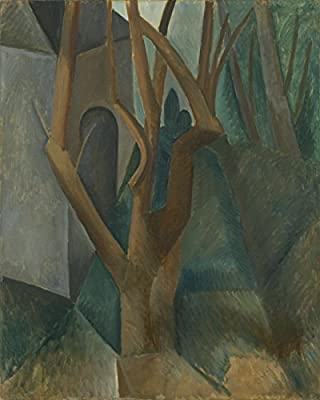 Landscape by Pablo Picasso.100% Hand Painted.Oil On Canvas. Reproduction. (Unframed and Unstretched).