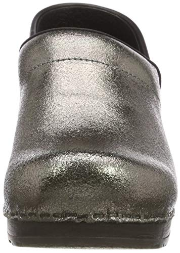 Metallica Professional Gris Sanita Pewter Femme Closed Sabots Original 20 ZFAqqwRxOS