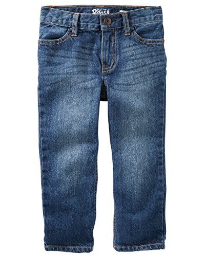 Osh Kosh Boys' Straight Jeans, Anchor Dark, 5T - Oshkosh B Gosh Children's Clothing