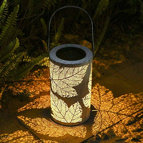 Solar Lantern Lights, Tomshine Outdoor Hanging Lantern, IP44 Waterproof Garden Light, Aged Bronze -
