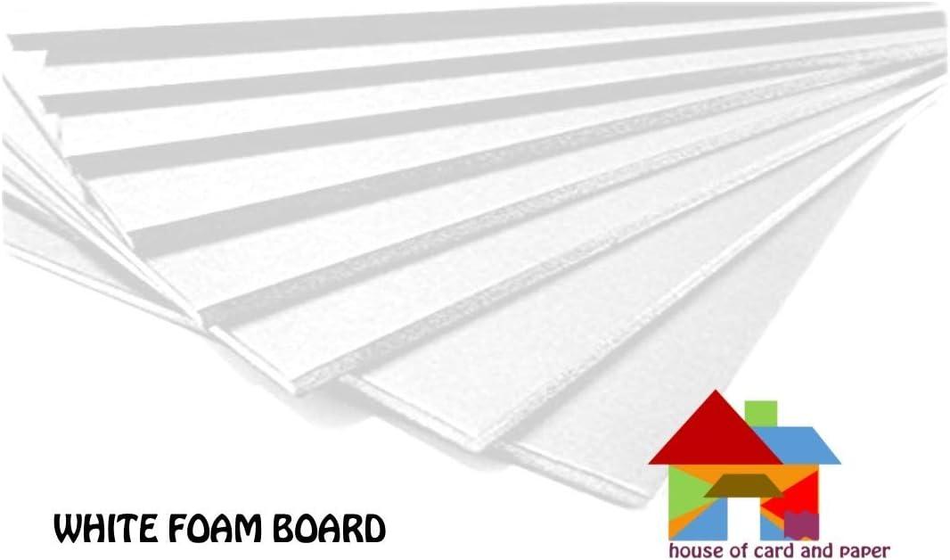 House of Card /& Paper Black Foam Board A4 size 210x297x5mm 10 sheets per pack