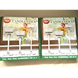 Long-Stem Glass Tealight Candleholders for party and events (set of 6)