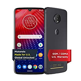 Moto Z4 with Alexa Hands-Free (Moto 360 camera included) – Unlocked Smartphone – 128 GB – Flash Gray