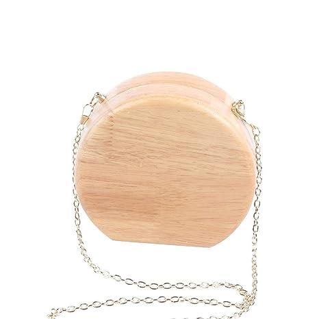 Flada - Cartera de mano para mujer small, madera clara (gris) - U