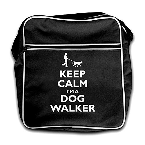 Bag Flight Red Black Calm Retro Dog Walker I'm Keep A 0xSq7pwqa