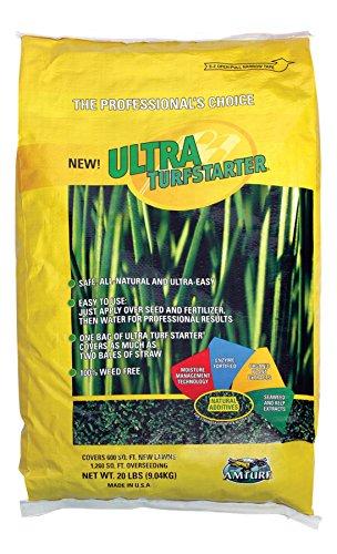 Amazoncom Ultra Turf Starter Mulch Grass Plants Garden Outdoor