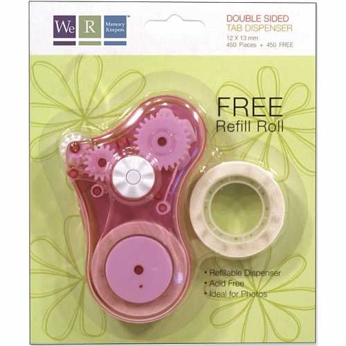 Double Sided Tab Dispenser - Double-Sided Adhesive Tab Dispenser-Pink