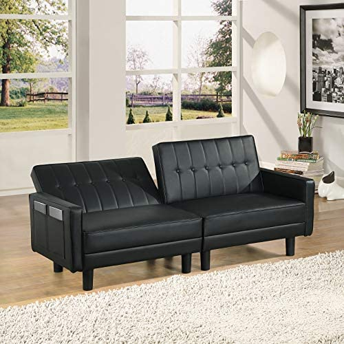 URRED Futon Sofa Bed Loveseat Sofa Sleeper