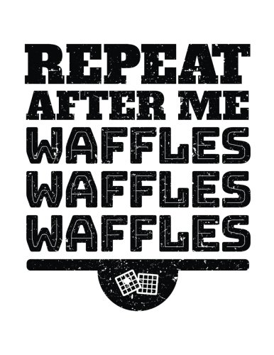 Read Online Repeat After Me Waffles Waffles Waffles: Blank Doodle Sketch Book pdf