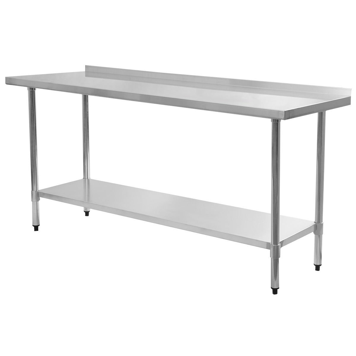 Giantex Stainless Steel Work Prep Table with Backsplash Kitchen Restaurant (24'' x 72'' )