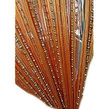 AMSS Globe Beaded Window Fringe Wall Panel Room Divider Strip Tassel Line String Curtain 1m x2m One Pair