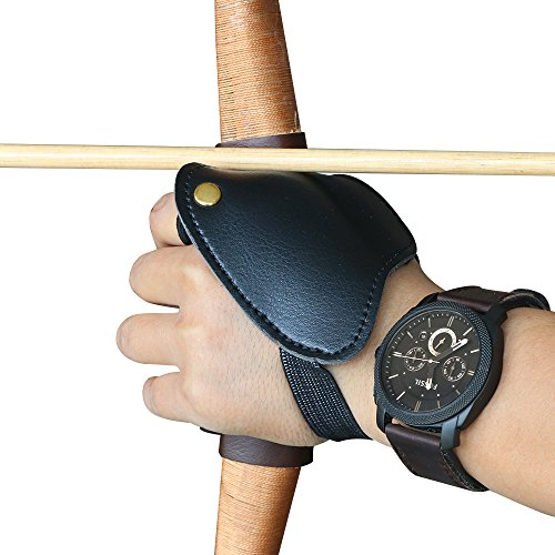 Huntingdoor Archery Hand Guard Archer Leather Protective Gloves Shooting Left hand (Archer Gloves)