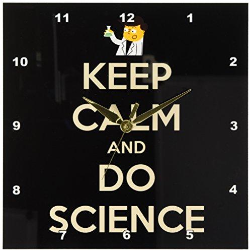 Cheap 3dRose dpp_159616_1 Keep Calm and Do Science Science Teacher Professor Chemistry Teacher Wall Clock, 10 by 10-Inch