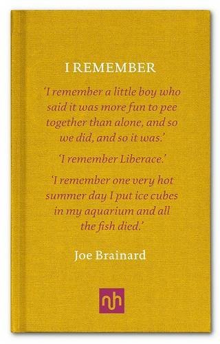I Remember By author Joe Brainard, By author Paul Auster, By ...