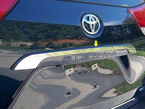 2020 Toyota Sienna Mirror - QAA fits 2011-2020 Toyota Sienna (1 Piece Stainless License Bar, Above Plate Accent Trim) LB11150