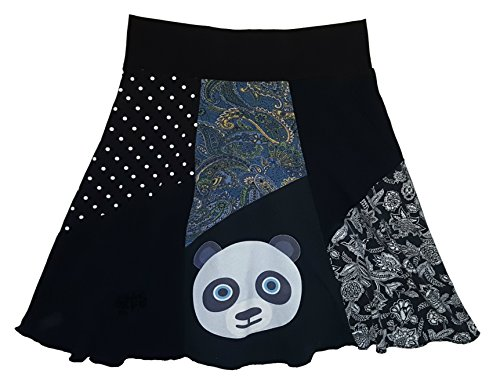 Panda T-Shirt Skirt Women's Large XL Upcycled One of a Kind Skirt by Twinklewear