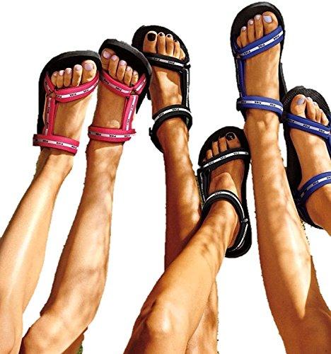 Victoria S Secret Pink Velcro Strap Sport Slides Sandals