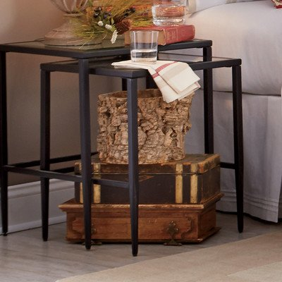Harlan Nesting Tables, Made of metal and glass