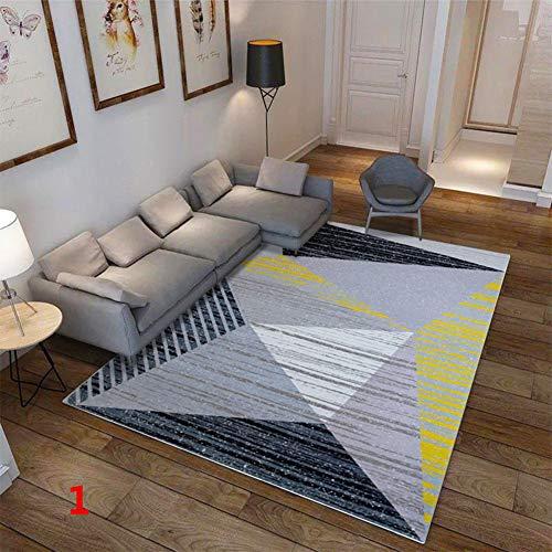 Aoile - Alfombra antideslizante con patrón geométrico suave, tamaño grande, para sala de estar, recámara de niños, suministros de piso, 80 x 120 cm