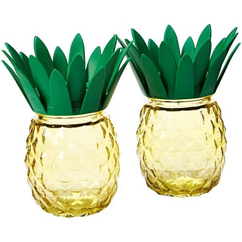 Solar Garden Light,Waterproof/Weatherproof Pineapple Solar Table Light for Garden, Patio, Party, Yard, Outdoor/Indoor Decorations (Set of 2)Zkee]()