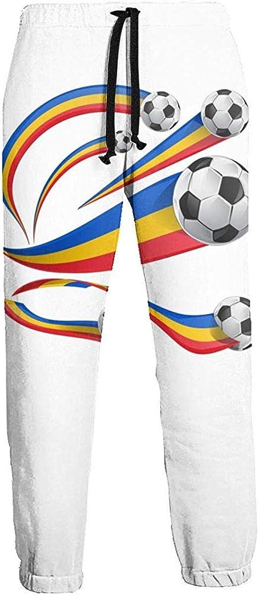 Eternity Bliss Conjunto de Bandera de Rumanía con balón de fútbol ...