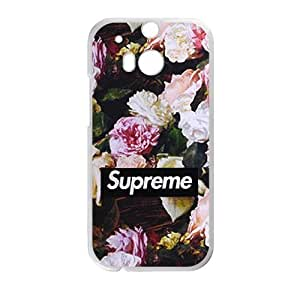 Printed Cover Protector HTC One M8 Cell Phone Case White Supreme Qeptv Unique Design Cases