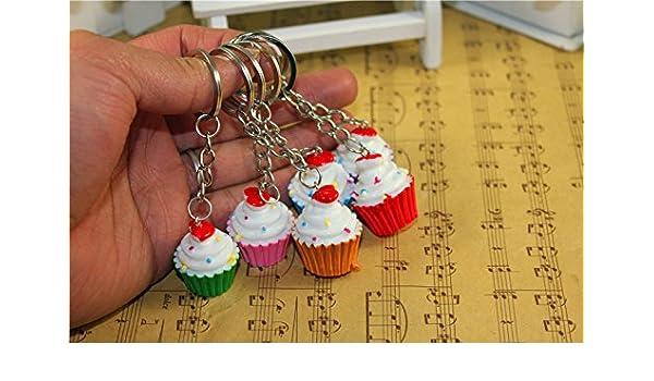 Amazon.com : Airgoesin 20pcs Keychain Key Ring Hang Cupcake ...