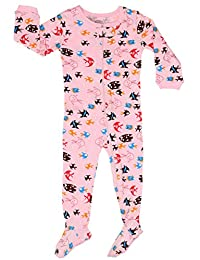 "Elowel Baby Girls footed ""Fish"" pajama sleeper 100% cotton (size 6M-5Years)"