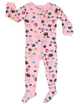 Elowel Baby Girls Footed Fish Pajama Sleeper 100 Cotton 6