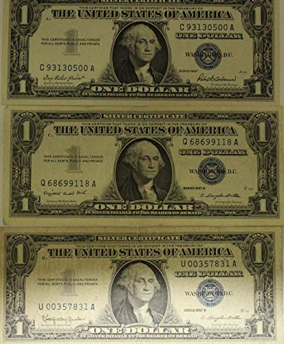 1957 Silver Certificates Lot of (3) Notes Plain,A & B Circulated ()