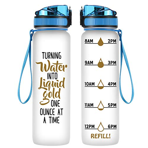 Coolife 32oz 1 Liter Motivational Tracking Water
