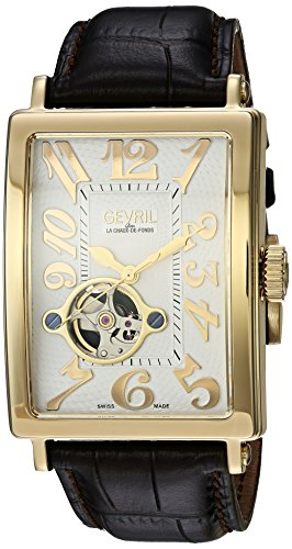 Gevril Avenue of Americas Men's Swiss-Automatic Open Hear...