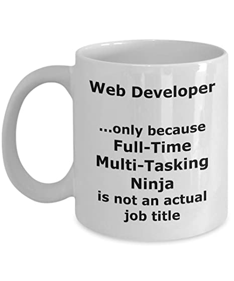 Amazon.com: Ninja Web Developer Funny Gift Mug: Kitchen & Dining