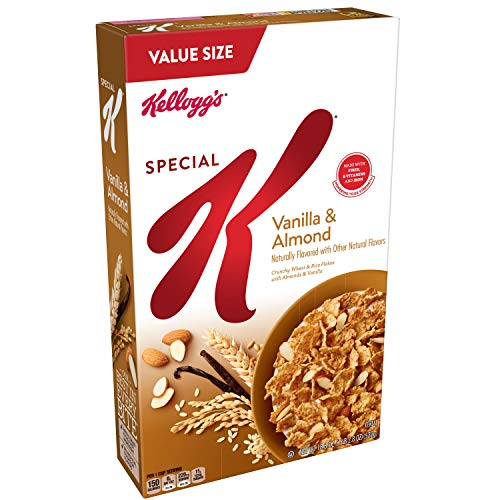 Kellogg's Special K Breakfast Cereal, Vanilla and Almond Value Size, 18.8 Oz (Pack of 8) (Special Vanilla)