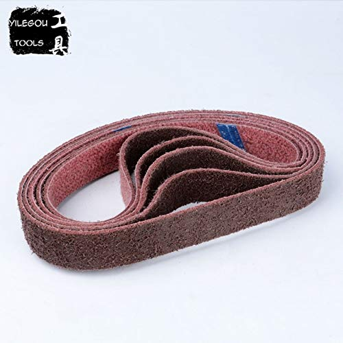 Maslin 2 Pieces 40 760mm Nylon Sanding Belt For Metal 76040mm Nylon Abrasive Belt With Grit 120 180 320 For 3 Round Tube Polishing - (Grit: 2 Pieces Grit 180, Color: Grit 180)