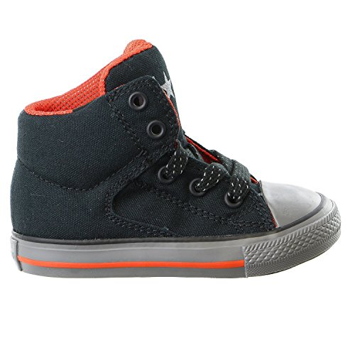 Converse Kids Toddler Boys Chuck Taylor All Star High Street Hi Top Fashion Sneaker Shoe, Black/Signal Red, -