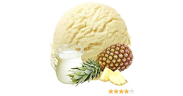 Suero de piña de suero de leche 1 Kg Polvo de suavidad de polvo de hielo Gino Gelati para su heladora