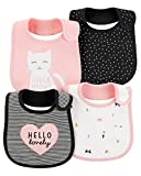 Best Carter's Baby Rattles - Carter's Baby Girls' 4-Pack Teething Bibs (Pink/Kitty) Review